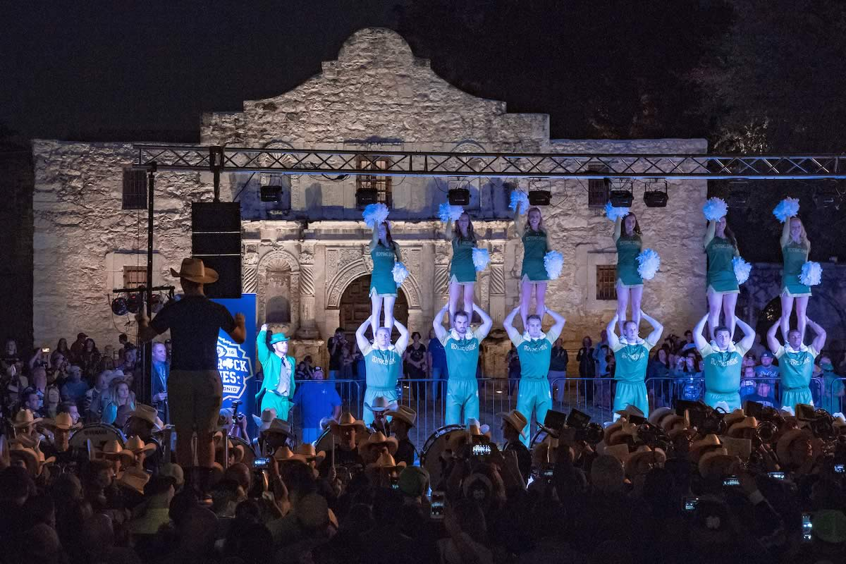 Band concert at The Alamo the night before the 2016 Shamrock Series game.