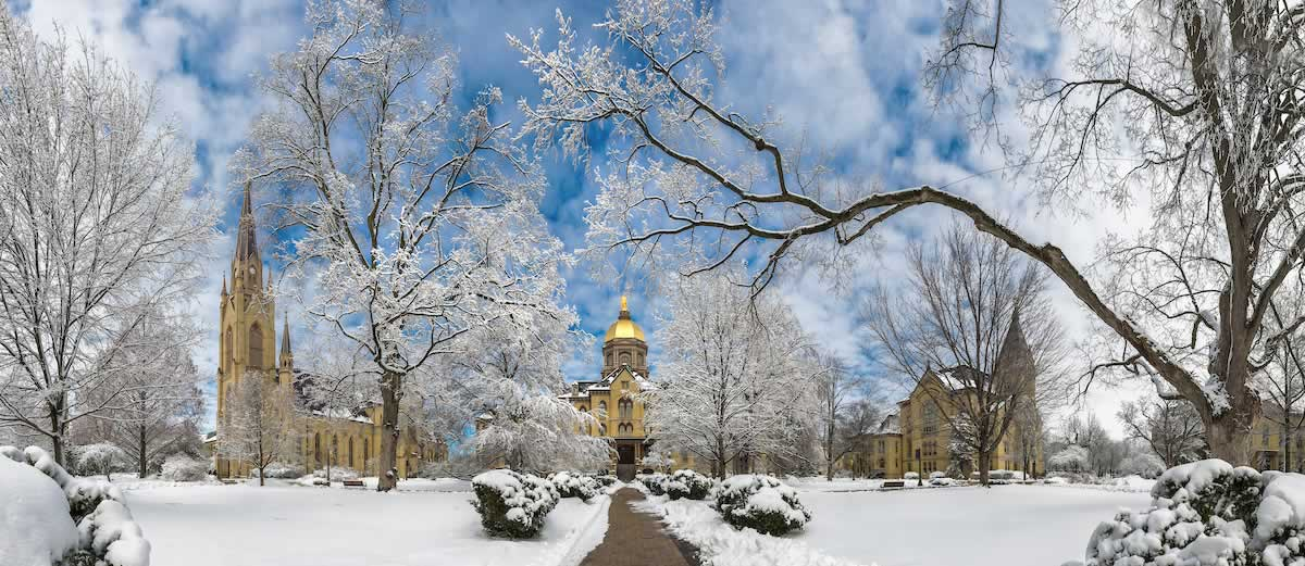 Main Quad after a snowfall.